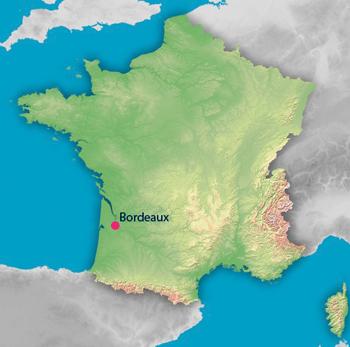 Position géographique de Bordeaux